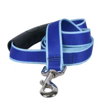 Sterling Stripes Royal Blue and Light Blue Dog Leash