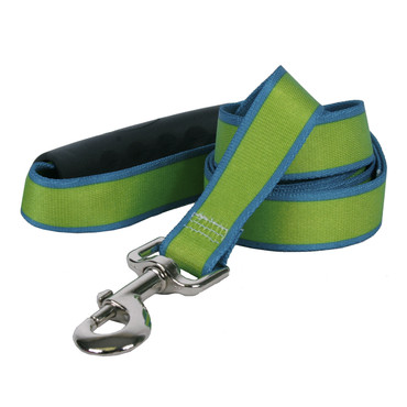 Sterling Stripes Spring Green and Teal Dog Leash