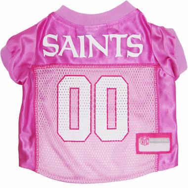 New Orleans Saints PINK NFL Football Pet Jersey