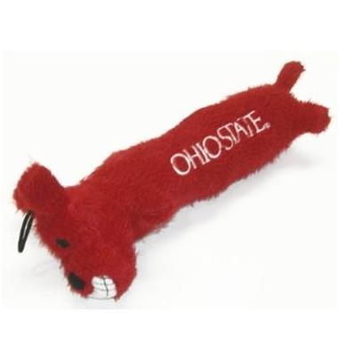 Ohio State Buckeyes Loofa Squeaker Dog Toy