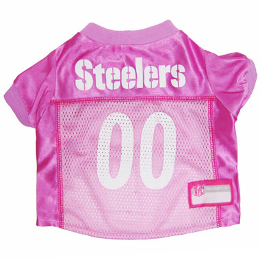 Pittsburgh Steelers PINK NFL Football Pet Jersey
