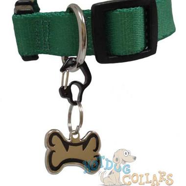 RubIt Curve RHINESTONE Dog Tag Clip