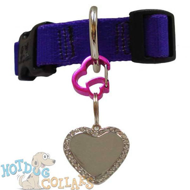 RubIt HEART Dog Tag Clip