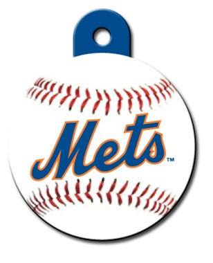 New York Mets ROUND Engraved Dog ID Tag