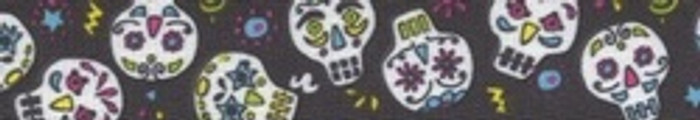 Sugar Skulls Black Coupler Dog Leash
