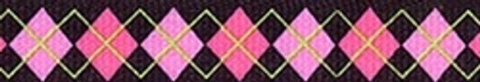 Pink Argyle Coupler Dog Leash