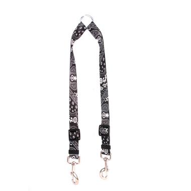 Black Bandana Coupler Dog Leash