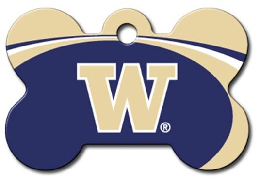 Washington Huskies Engraved Pet ID Tag