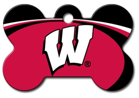 Wisconsin Badgers Engraved Pet ID Tag