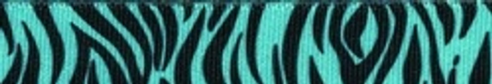 "Zebra Teal Roman Style ""H"" Dog Harness"