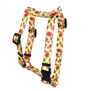 """Hot Peppers Roman Style """"H"""" Dog Harness"""