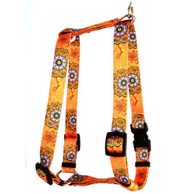 "Folk Flowers Roman Style ""H"" Dog Harness"