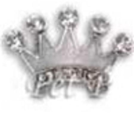 Crown Charm - Clear (10mm)
