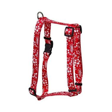 "Aloha Red Roman Style ""H"" Dog Harness"