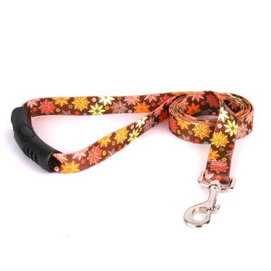 Autumn Flowers EZ-Grip Dog Leash