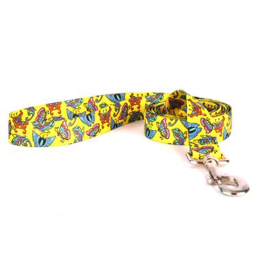 Butterflies on Yellow Dog Leash