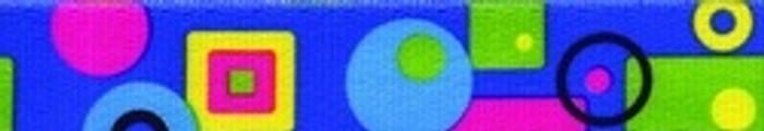 Blue Geometric Dog Leash