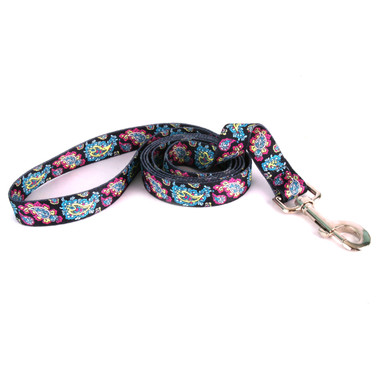 Black Paisley Dog Leash