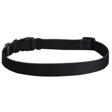 Solid Black Dog Collar