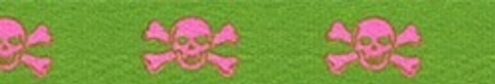 Green and Pink Skulls Waist Walker
