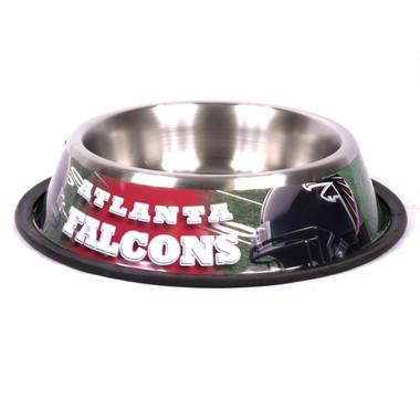 Atlanta Falcons Stainless Steel NFL Dog Bowl