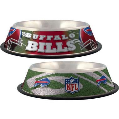 Buffalo Bills Stainless Steel NFL Dog Bowl