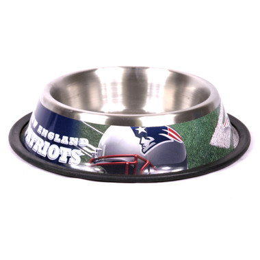 New England Patriots Stainless Steel NFL Dog Bowl
