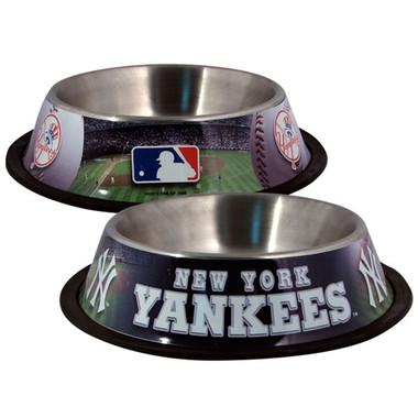 New York Yankees Stainless Steel MLB Dog Bowl