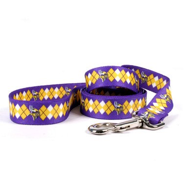 Minnesota Vikings Argyle Dog Leash