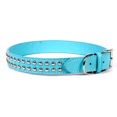 Rivet Studded Leather Dog Collar