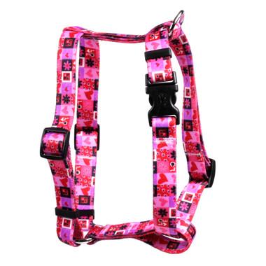 "Valentines Blocks Roman Style ""H"" Dog Harness"