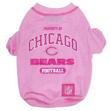 Chicago Bears NFL Football PINK Pet T-Shirt