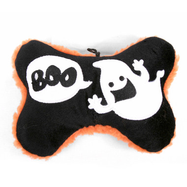 Boo! Ghost Bone Squeaker Dog Toy 2 PACK