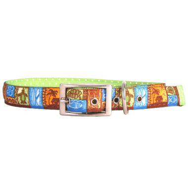 Tiki Print Uptown Dog Collar