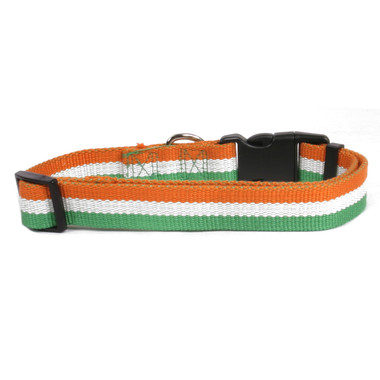 back part of irish flag dog collar