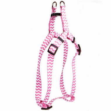 Chevron - Watermelon Step-In Dog Harness