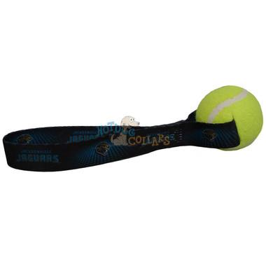 Jacksonville Jaguars Tennis Ball Tug Dog Toy