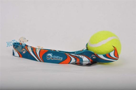 Miami Dolphins  Tennis Ball Tug Dog Toy