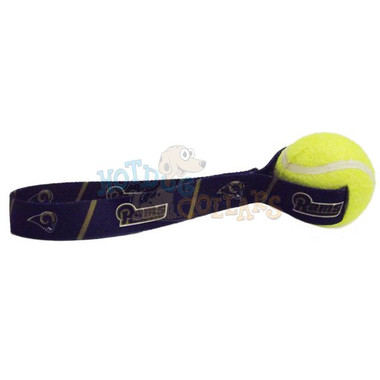 St. Louis Rams  Tennis Ball Tug Dog Toy