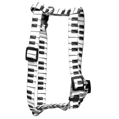 "Piano Keys Roman Style ""H"" Dog Harness"