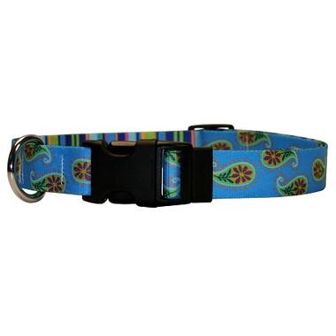 Blue Paisley Break Away Cat Collar