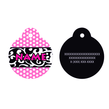 Chantilly Pink pet id tag