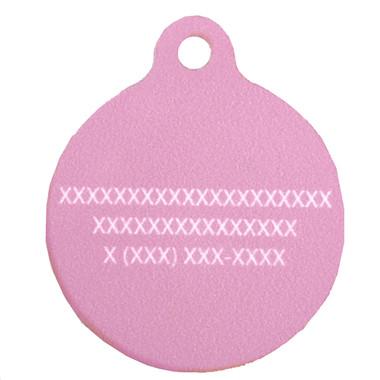Madras Plaid Pink HD Pet ID Tag
