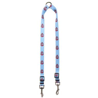 Anchors on Blue Stripes Coupler Dog Leash