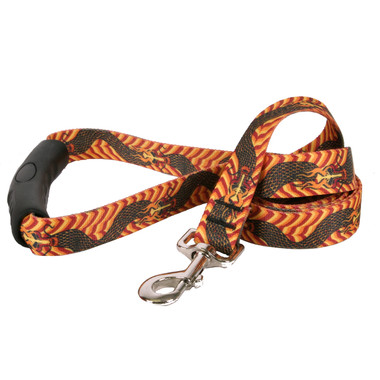 Dragon Wave Orange EZ-Grip Dog Leash