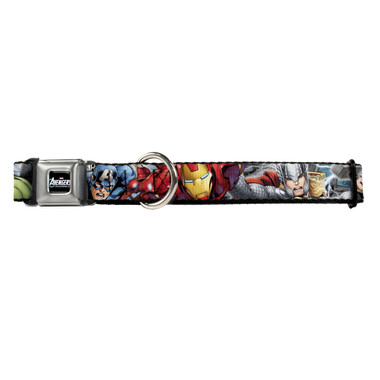 Marvel Avengers Assemble Superheroes Buckle-Down Seat Belt Buckle Dog Collar