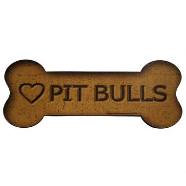 Love Pit Bulls Bone Biscuits Magnet