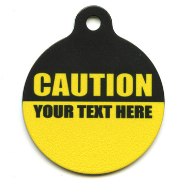 Caution Hi-Def Pet ID Tag