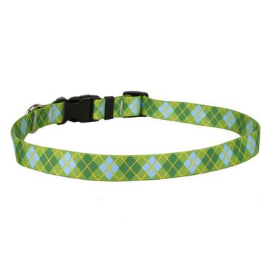Argyle Green Dog Collar