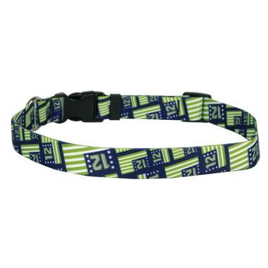 12th Dog Flags Dog Collar